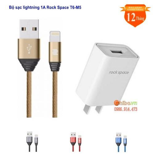 Bộ củ cáp sạc dây dù lightning 1A Rock M5 cho IPhone cao cấp