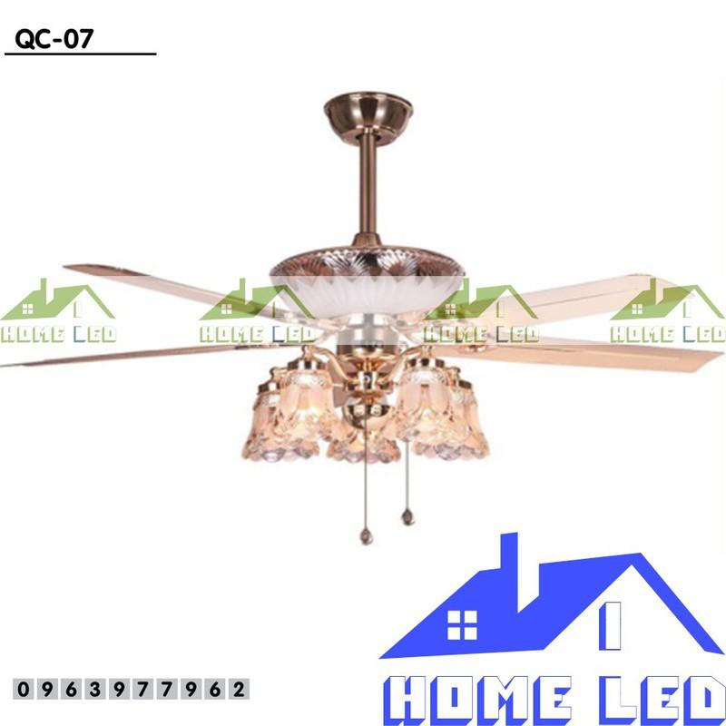 Quạt trần đèn hiện đại QC-07 + Tặng kèm bộ điều khiển hiện đại 500K 1