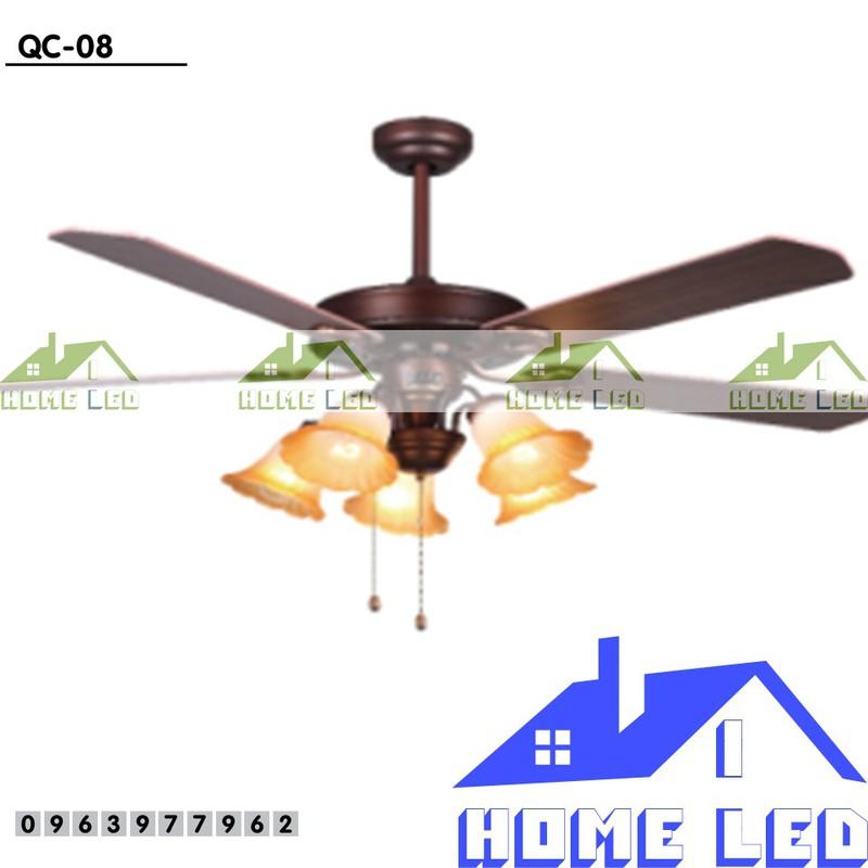 Quạt trần đèn hiện đại QC-08 + Tặng kèm bộ điều khiển hiện đại 500K 1