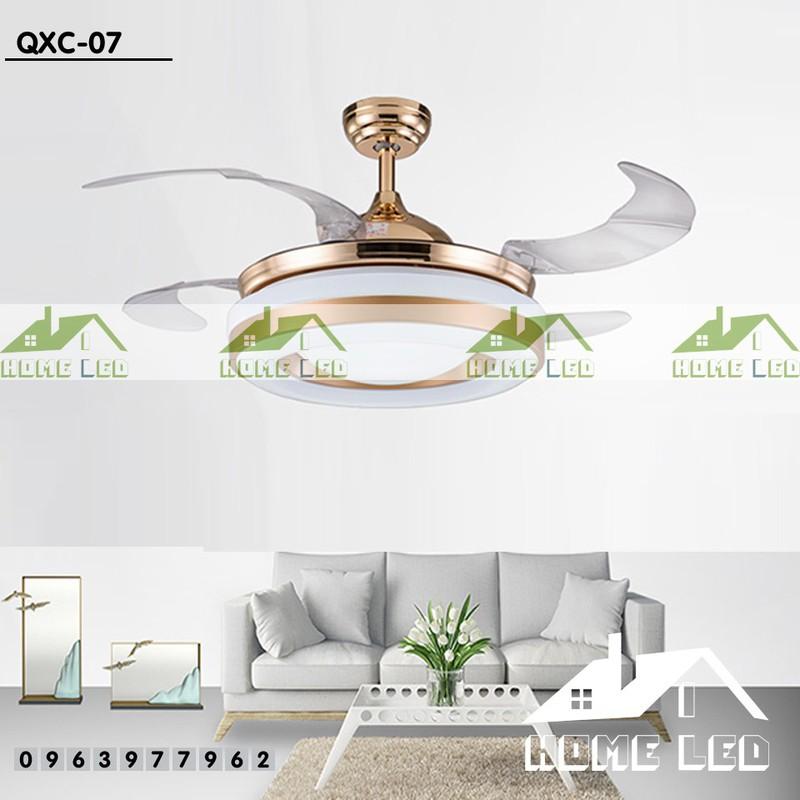 Quạt trần đèn hiện đại QXC-07 + Tặng kèm bộ điều khiển hiện đại 500K 1