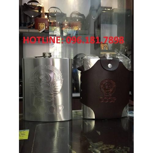 Bình rươu inox dập nổi CCCP cao cấp 1,5l 48oz