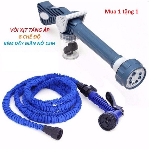 COmbo Vòi xịt  tăng áp 8 chế độ tặng dây giãn nở 15m - 6912891 , 13641679 , 15_13641679 , 240000 , COmbo-Voi-xit-tang-ap-8-che-do-tang-day-gian-no-15m-15_13641679 , sendo.vn , COmbo Vòi xịt  tăng áp 8 chế độ tặng dây giãn nở 15m