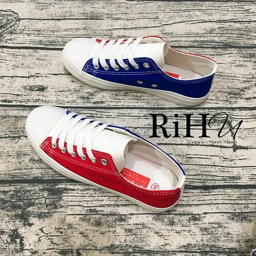 Giày thể thao nữ  vải 2 màu xanh đỏ đẹp Hàng loại 1 - RIHU Shop