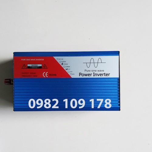 Inverter sin chuẩn 1200w chuyển đổi điện 24v lên 220v