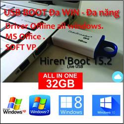 USB 32GB cài Đa WIN 7, 8, 10 ALL - MS Office ALL