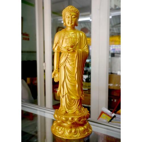 Tượng Đức Phật A Di Đà đứng sơn nhũ vàng cao 38cm - 10798392 , 11204160 , 15_11204160 , 700000 , Tuong-Duc-Phat-A-Di-Da-dung-son-nhu-vang-cao-38cm-15_11204160 , sendo.vn , Tượng Đức Phật A Di Đà đứng sơn nhũ vàng cao 38cm
