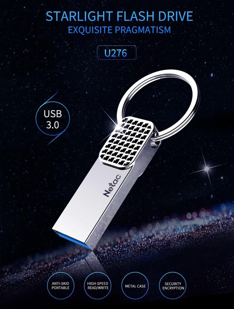 USB Netac U276 U Disk USB 3.0 Flash Drive 32GB màu bạc 1