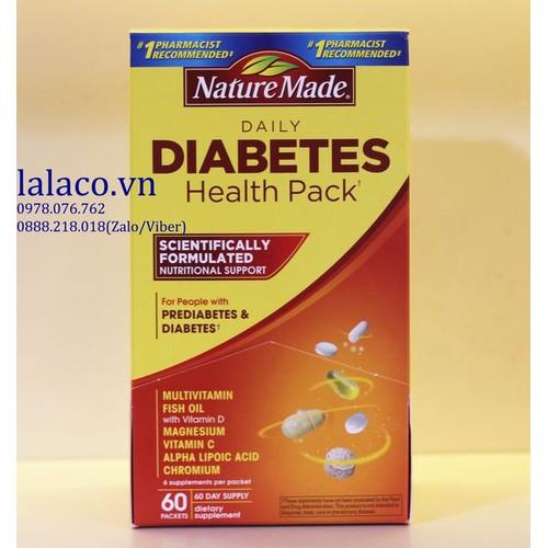 Viên Uống Nature Made Diabetes Health Pack Mỹ 60 Gói