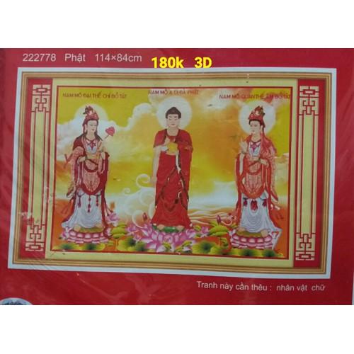 Tranh thêu chữ thập Tam Thế Phật