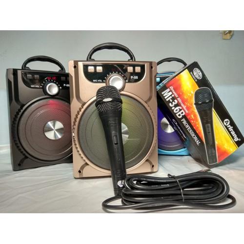 Loa karaoke bluetooth không dây + tặng Mic dây Arirang