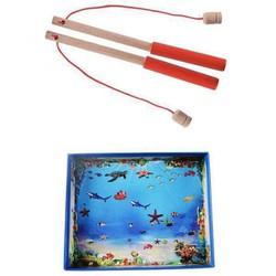 đồ chơi câu cá nam châm gỗ