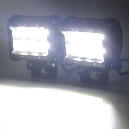 Đèn trợ sáng cho xe máy hình vuông 6 Led