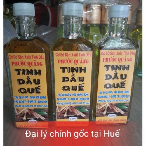 60ml tinh dầu quế  nguyên chất thơm lừng chính gốc tại huế
