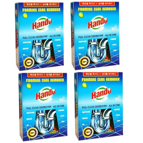 Bộ 4 gói bột thông cống xuất khẩu Hando 100g