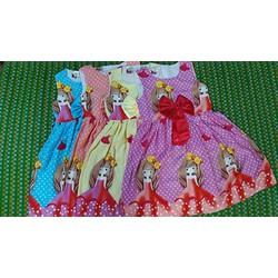 Đầm tôn bé gái xinh xắn từ 3 - 5 tuổi