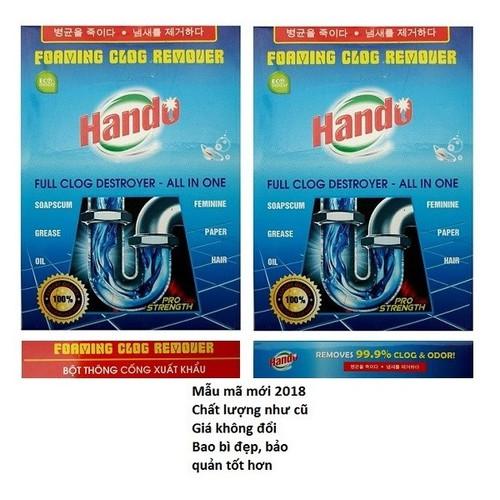 Bộ 2 gói bột thông cống xuất khẩu Hando 100g