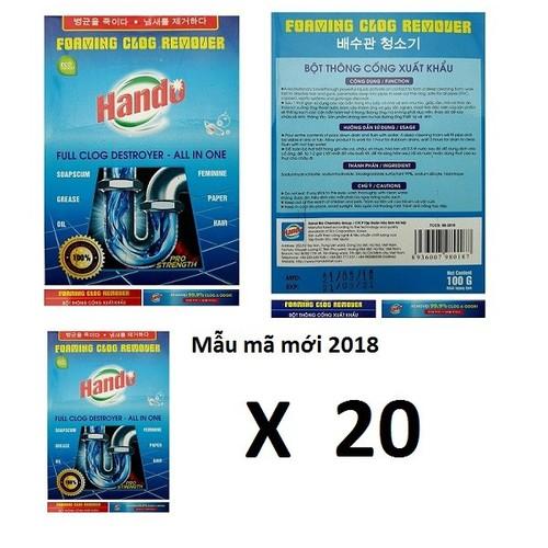 Bộ 20 gói bột thông cống xuất khẩu cực mạnh Hando 100g - 10806685 , 11239632 , 15_11239632 , 500000 , Bo-20-goi-bot-thong-cong-xuat-khau-cuc-manh-Hando-100g-15_11239632 , sendo.vn , Bộ 20 gói bột thông cống xuất khẩu cực mạnh Hando 100g