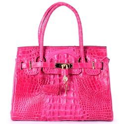 Túi xách nữ Huy Hoàng da cá sấu cao cấp màu hồng EH6221