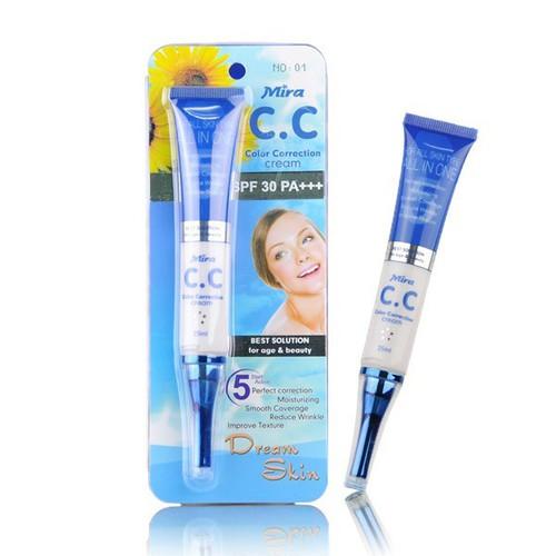 Kem CC Mira Color Correction Cream Che Phủ Hoàn Hảo Hàn Quốc 25ml