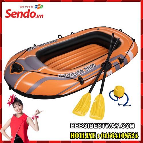 Thuyền Bơm Hơi 1 người Đỏ cam  198 x 122 x 29 cm Bestway 61062