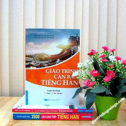Sách Giáo trình căn bản tiếng Hàn luyện kỹ năng nghe nói đọc