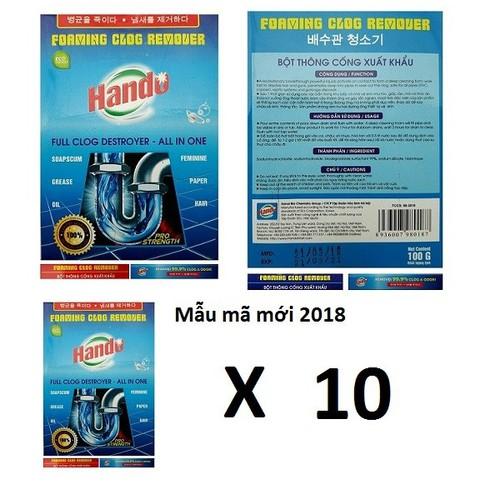 Bộ 10 gói bột thông tắc cống cực mạnh xuất khẩu Hando 100g - 10806680 , 11239606 , 15_11239606 , 300000 , Bo-10-goi-bot-thong-tac-cong-cuc-manh-xuat-khau-Hando-100g-15_11239606 , sendo.vn , Bộ 10 gói bột thông tắc cống cực mạnh xuất khẩu Hando 100g