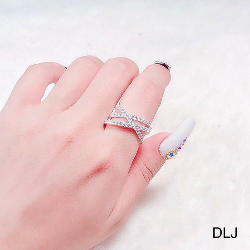 Nhẫn bạc nữ đeo ngón trỏ - 4393624 , 10943502 , 15_10943502 , 220000 , Nhan-bac-nu-deo-ngon-tro-15_10943502 , sendo.vn , Nhẫn bạc nữ đeo ngón trỏ
