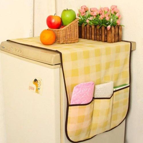 Tấm Phủ Tủ Lạnh Vải Không Dệt Chống Thấm Có Ngăn Đựng Đồ - 7669-1