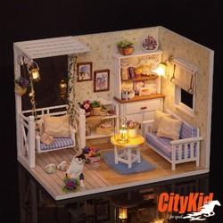Bộ lắp ráp mô hình nhà gỗ DIY:Căn Phòng Nhật Ký Mèo Con H013