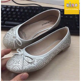 Giày bé gái, giày búp bê cho bé xuất khẩu, giày xuất khẩu cho bé lớn, giày búp bê trắng cho bé, giày ren điệu cho bé - GA001 thumbnail