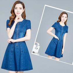 Đầm Jean Khóa Kéo THỜI TRANG TỪ 42-70KG  đủ size m,l,xl,xxl CHJ1