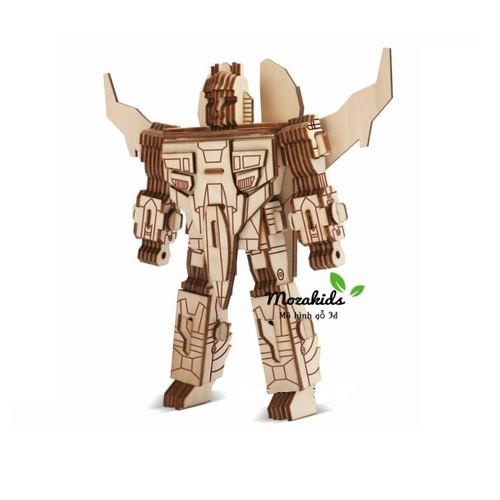 Đồ chơi lắp ráp gỗ 3D Mô hình Robot III Laser