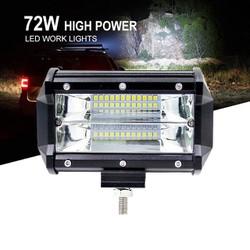 Đèn LED bar đèn gầm hai dải 72W Cree cho xe hơi, thuyền, xe tải trắng
