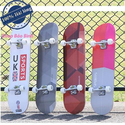 Ván trượt thể thao skateboard gỗ phong ép cao cấp 7 lớp mặt nhám