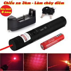 Đèn pin laze, lazer 303 Siêu mạnh Tia Đỏ- Bảo hành 1 đổi 1 Laser