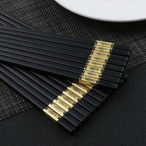Hộp 10 đôi đũa hợp kim sang trọng bền đẹp cao cấp CAM KẾT CHẤT LƯỢNG BỞI BÁCH HÓA ONLINE