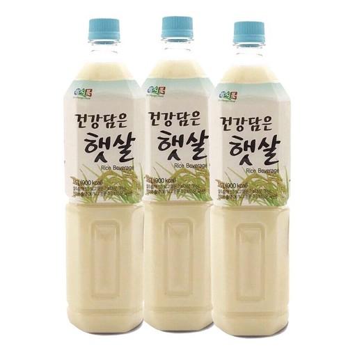 Combo 3 chai nước gạo rang Dr.Chung Hàn Quốc 1,5L-chai