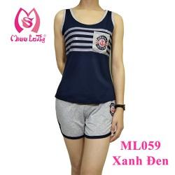 ML059 - Bộ mặc nhà nữ MARINE quần sọt Miss Lathy