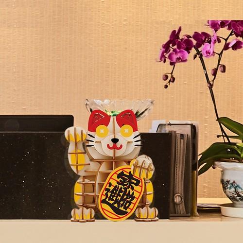 Đồ chơi lắp ráp gỗ 3D Mô hình Mèo Thần tài