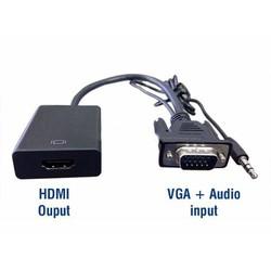 Cáp chuyển tín hiệu VGA to HDMI Audio Full HD