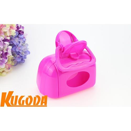 Cạp hốt phân Poop Scooper cho chó mèo Kugoda màu hồng