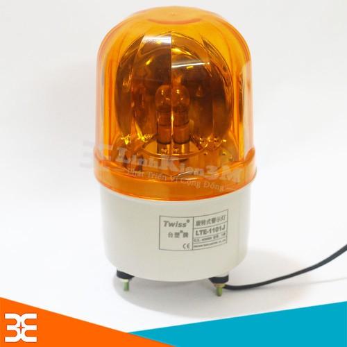 Đèn Xoay Cảnh Báo Twiss Có Còi LTE- 1101J 220VAC - Vàng