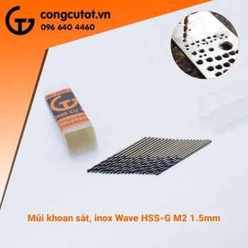 Combo10 mũi khoan inox 1 5mm-Waves