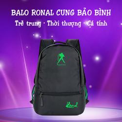 Ba lô thời trang Ronal BL78 Đen - Cung Bảo Bình xanh lá