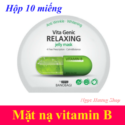 Mặt nạ Vitamin B Banobagi Hàn Quốc - Hộp 10 miếng