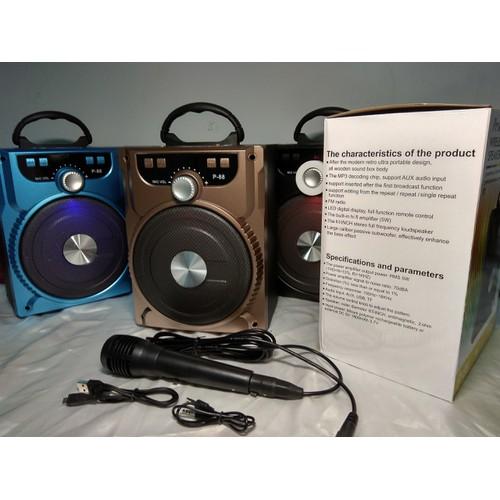 Loa karaoke bluetooth + tặng Mic dây tốt