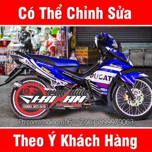 Tem Trùm Xe Exciter 135 Xanh Trắng Ducati - 10816059 , 11282715 , 15_11282715 , 299000 , Tem-Trum-Xe-Exciter-135-Xanh-Trang-Ducati-15_11282715 , sendo.vn , Tem Trùm Xe Exciter 135 Xanh Trắng Ducati