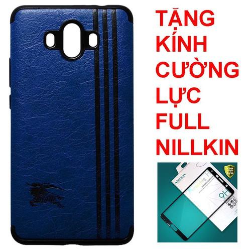 Ốp lưng Huawei Mate 10 xanh đen + Kính cường lực