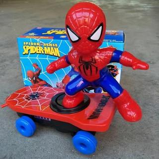 Đồ chơi người nhện trượt ván 360 độ cho bé - đồ chơi người nhện thumbnail