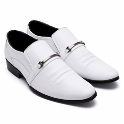 Giày nam Huy Hoàng da bò màu trắng EH7135